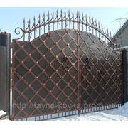 Кованные ворота 1620 грн. м. кв. фото