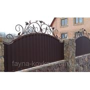 Кованный забор с профнастилом 430 грн. фото
