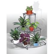 Подставка угловая д/цветов FRUT, 3 уровня фото