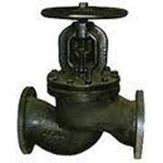 Вентиль (клапан) чугунный запорный проходной фланцевый 15кч14п Ду125 Ру16 фото