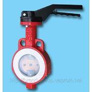 Заслонка поворотная баттерфляй Xurox Dn 200 Pn 16 Type Teflon фото