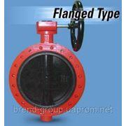 Заслонка поворотная баттерфляй Xurox Dn 800 Pn 16 фланцевая фото