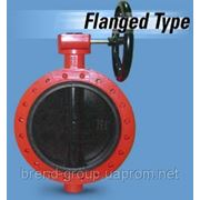 Заслонка поворотная баттерфляй Xurox Dn 450 Pn 16 фланцевая фото