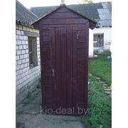 Туалет деревянный для дачи. фото