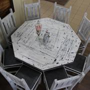 """Стол и 8 стульев (Набор """"Арба""""), массив сосны фото"""