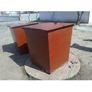 Контейнер мусорный с крышкой 0.8х1м. 2.5мм. лист фото