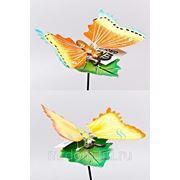 """Фигура декоративная для сада (штекер садовый) """"бабочка на листке"""" h=60/8см. (2вида) (774391) фото"""