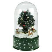 Новогодняя музык. композиция со снегом ёлка новогодняя 18*30см (710015) фото