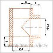 Тройник полипропиленовый Ф 20 мм цвет серый. фото
