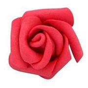 Декор свадебный Роза красная 3см фото