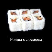 Суши Роллы с лососем фото