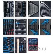 Набор инструментов для тележки, 10 ложементов, 173 предмета KING TONY 932-000MRD-MT фото