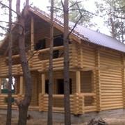 Строительство загородных домов из оцилиндрованного бревна фото