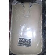 Чехол кожаный iPhone 2G/3G/3GS No3 бежевый фото