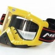 Очки горнолыжные с защитой носа Желтые фото