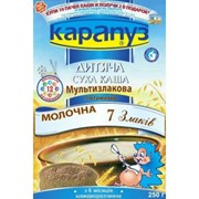 Каша Карапуз мультизлаковая молочная 7 злаков фото