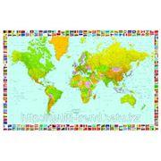 """Фотообои """"Карта мира"""" Wizard&Genius (Швейцария) фото"""