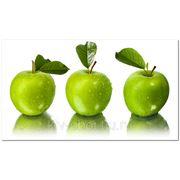 Фотообои Три зеленых яблока фото