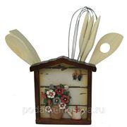 """Коллаж-набор для кухонных принадлежностей """"Анютины глазки"""" 32495 фото"""