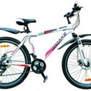 """Велосипед OMAKS 26-109 disk белый (колеса 26""""; 21 скорость; рама-18"""") фото"""