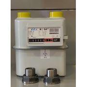 Бытовые газовые счетчики с температурным компенсаторам, монтажными штуцерами и паранитовыми прокладками фото