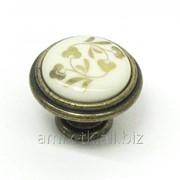 Ручка-кнопка с фарфором - P88.00.G8.E8G фото
