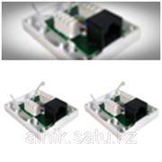 1хRj45 розетка одинарная неэкранированная для кабеля Cat 5e белая фото