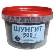 Порода шунгитовая для ванн и воды, 500 г в пластиковой баночке. фото