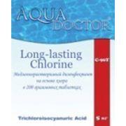 AquaDOCTOR™ Long - Меделенно-растворимый дезинфектант на основе хлора C-90T. Таблетки по 200гр./50кг фото