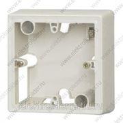 Коробка для накладного монтажа 1 пост Белая фото
