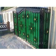 Ворота ажурные полимерные фото