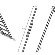 Лестница алюминиевая двухсекционная Луч АЛ 2x9 фото