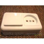 Блок наружный одинарный выключатель и розетка фото