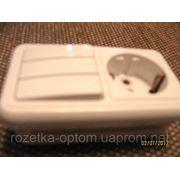 Блок внутренний тройной выключатель и розетка с заземлением фото
