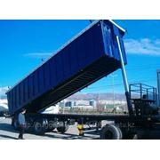Самосвал-полуприцеп бейсан с кузовом 60 кубов для транспортировки лома фото