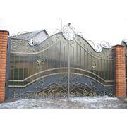 Кованные ворота в Алматы фото