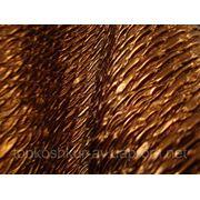 708 Натуральная кожа для пошива одежды стёганая бронза фото