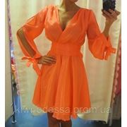Платье шифоновое рукава завязки фото