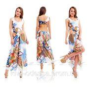 Платье шелк талия узел фото