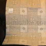 Льняная скатерть Руно Злато (квадраты) 150х150 см
