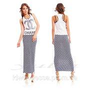 Платье Chanel шахматы фото