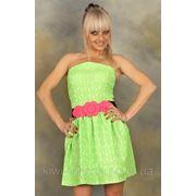 Платье шифоновое цветы пояс ромашка открытые плечи фото
