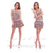 Платье LV юбка каскад фото