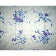 Ткань постельная Ситец Бантик фиолетовый на белом фото