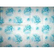 Ткань постельная Напыление бирюзовое фото