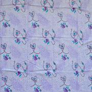 Ткань постельная Цепи фиолетовые фото