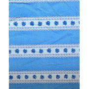 Ткань постельная Вышиванка голубая фото