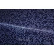 Журавинка синяя Венеция рис 1472 ткань для столового белья в ассортименте фото