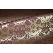 Мати золото+шоколад Ажур рис 1589 ткань для столового белья фото