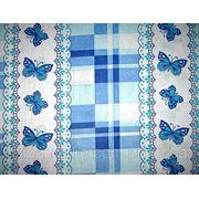 Ткань постельная ситец Бабочка синяя фото